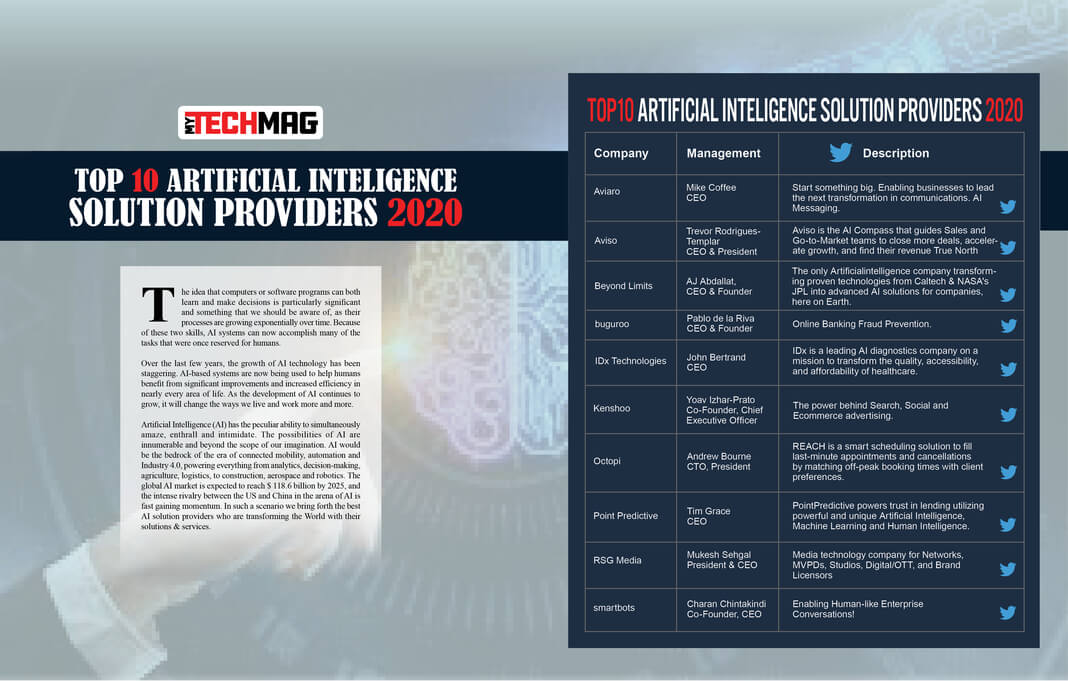 Top 10 AI Solution Providers 2020
